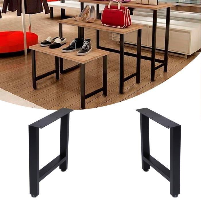 Pieds de table modernes industriels en métal robuste (S)