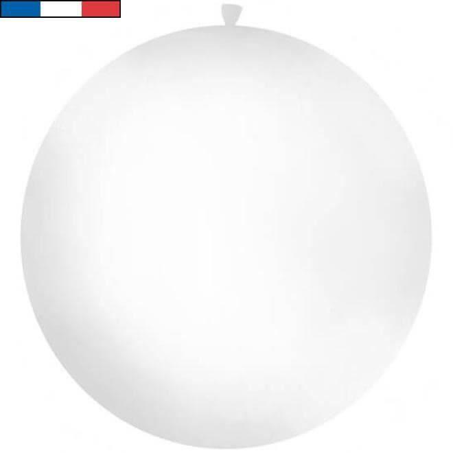 Ballon géant métallique blanc en latex 1m (x1) REF/9538 Made in France