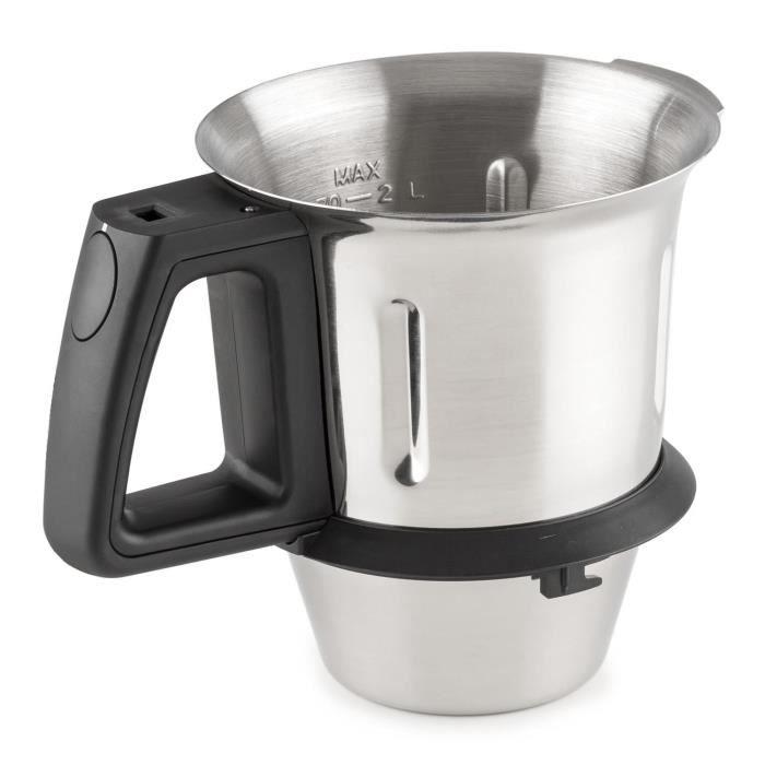 Klarstein Kitchen Hero Bol de cuisson de rechange pour robot de cuisine 2l inox