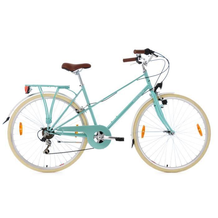 Vélo pour dame 28'' Marseille turquoise métallique TC 48 cm KS Cycling