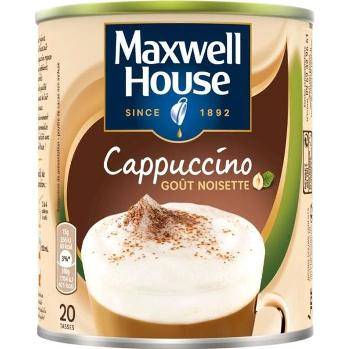 MAXWELL HOUSE Cappucino noisettes - 305 g