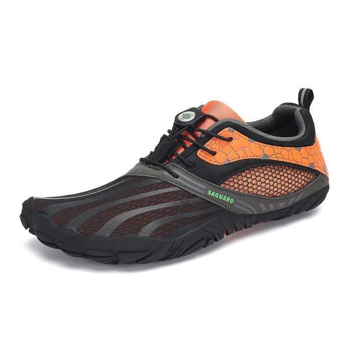 Chaussures De Running Z5PTC Minimaliste Trail Chaussures de course aux pieds nus Walking large Toe Box Cross Outdoor formateur Zéro