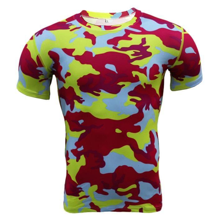 Maillot Compression À Manches Courtes T Shirt Pour Homme Sports Séchage Rapide Baselayer Haut 4 L