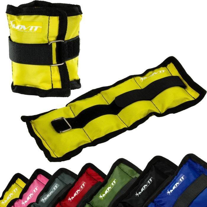 MOVIT Poids de cheville et de poignet jaune 1 kg (2 x 0,5 kg) - 1 paire