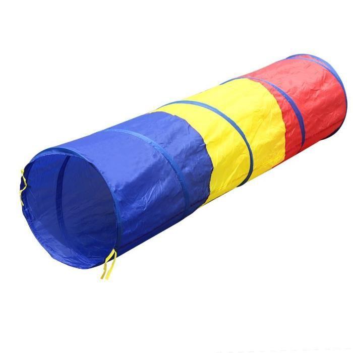 Tente pour enfants avec tunnel tricolore