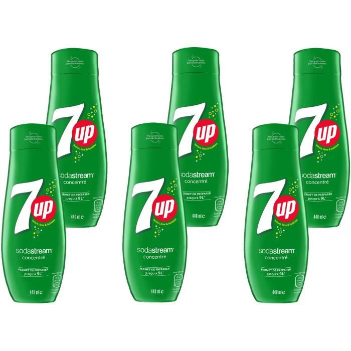 SODASTREAM Concentré 7UP 440ml Lot de 6