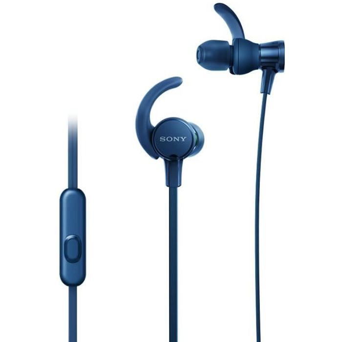 SONY - Ecouteurs sport intra-auriculaires EXTRA BASS™ XB510AS - Bleu