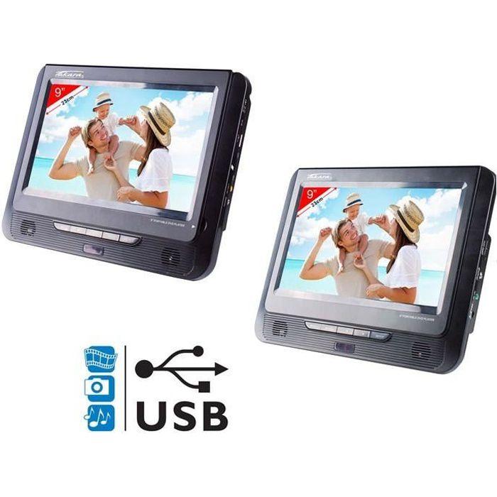 TAKARA VRT179 Lecteur DVD portable 2 écrans 9- USB