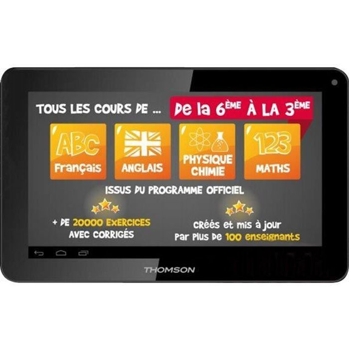 THOMSON Tablette Tactile 10-1 - Processeur Quad Core A33 - RAM 1Go -Stockage 8 Go- Android 5.1