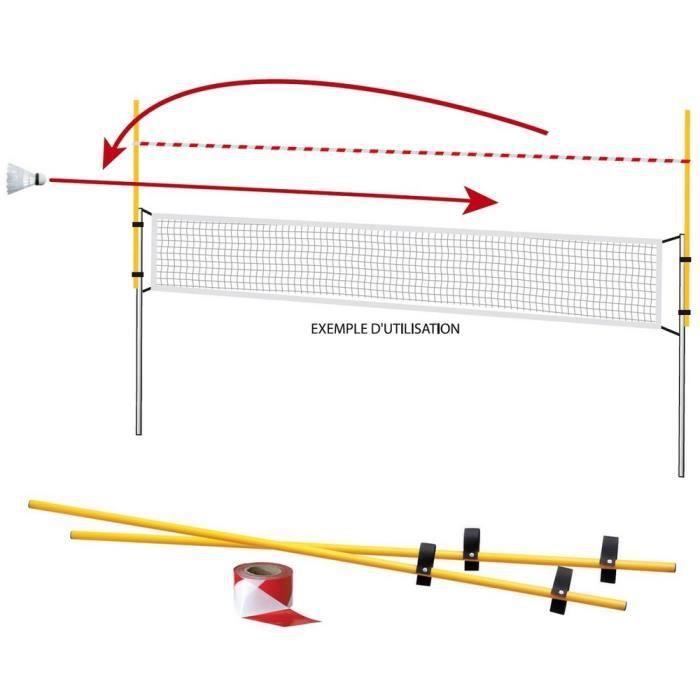 Sur-filet Badminton avec 2 poteaux de 1.60 m