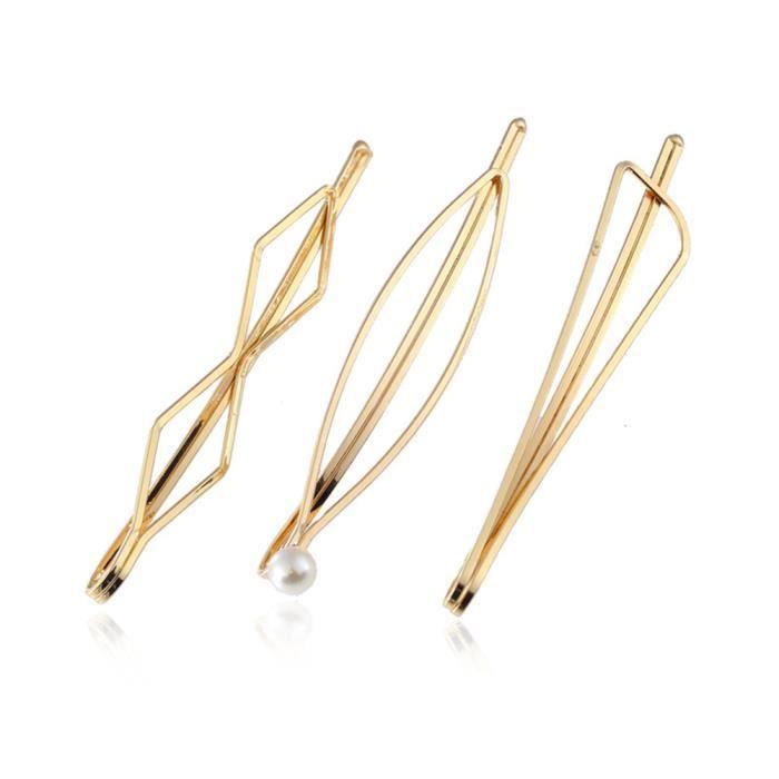 8 Pièces Pinces à Cheveux en Bois Style Chinois Accessoires de Perle