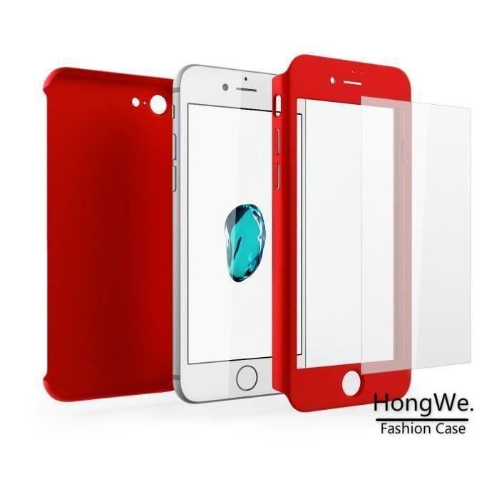 coque 360 iphone 7 rouge