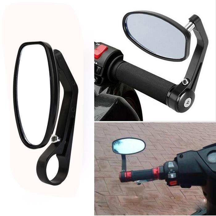 1 Paire 7//8 Moto R/étroviseurs Lat/éraux avec Embout de Guidon Moto Moto Vue Arri/ère Miroirs Noir