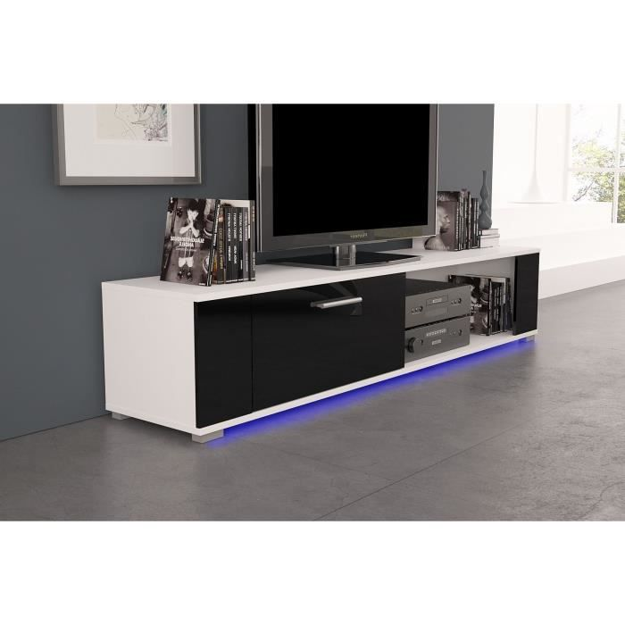 meuble tv orkus led blanc mat noir brillant achat vente meuble tv meuble tv orkus led. Black Bedroom Furniture Sets. Home Design Ideas