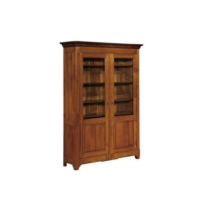 biblioth que vitrine 2 portes champigny achat vente. Black Bedroom Furniture Sets. Home Design Ideas
