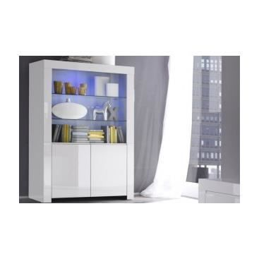 vitrine laqu e verulo blanc achat vente buffet bahut vitrine laqu e verulo bla. Black Bedroom Furniture Sets. Home Design Ideas