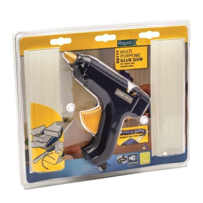 le dernier doux et léger nouveaux prix plus bas Pistolet à colle EG111 + 500 g de colle - RAPID