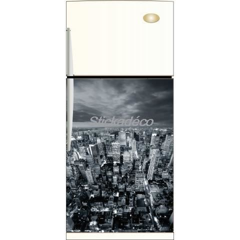 Sticker frigo sticker frigidaire new york dime achat for Decoration porte frigidaire