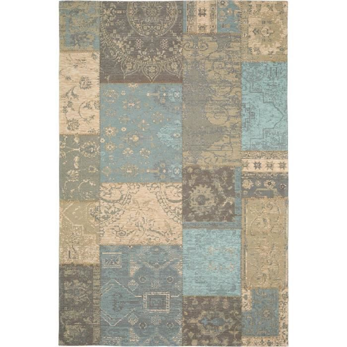 benuta tapis vintage rigina patchwork marron 300x400 cm achat vente tapis cdiscount. Black Bedroom Furniture Sets. Home Design Ideas