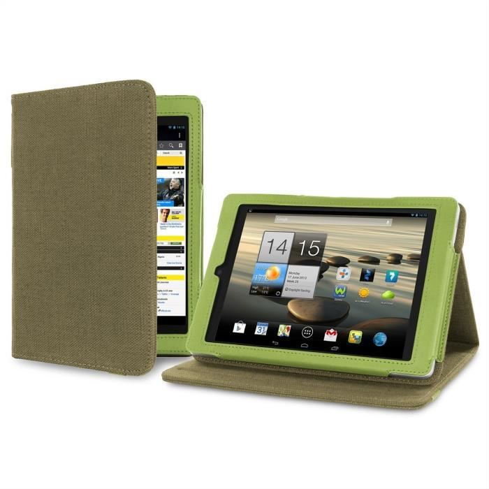 cover up housse avec avec support pour tablette acer iconia a1 810 de 7 9 quot chanvre naturel