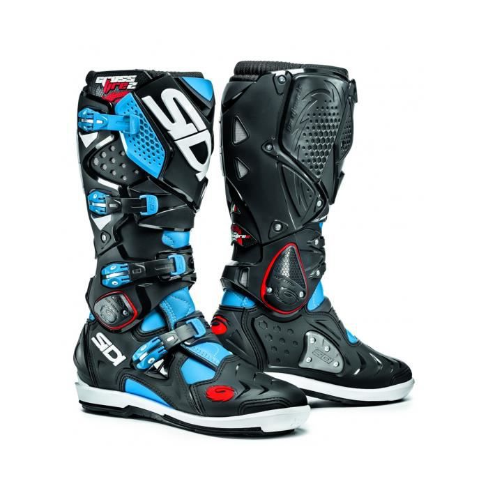 bottes motocross sidi crossfire 2 srs light noir bleu achat vente chaussure botte bottes. Black Bedroom Furniture Sets. Home Design Ideas