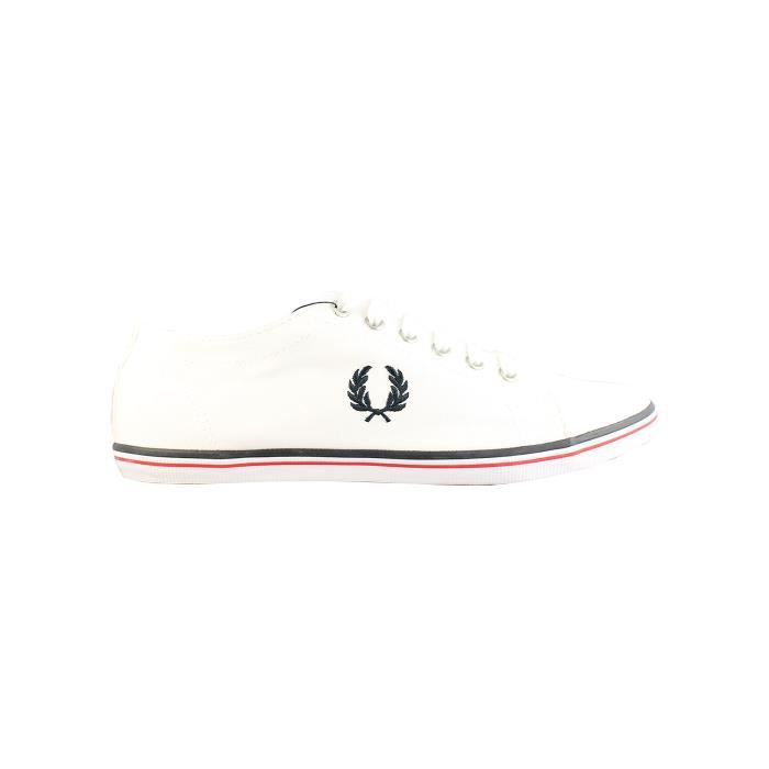 BASKET FRED PERRY KINGSTON TWILL WHITE