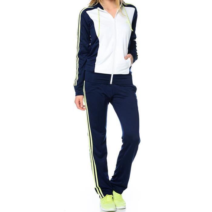 ensemble jogging adidas blanc femme
