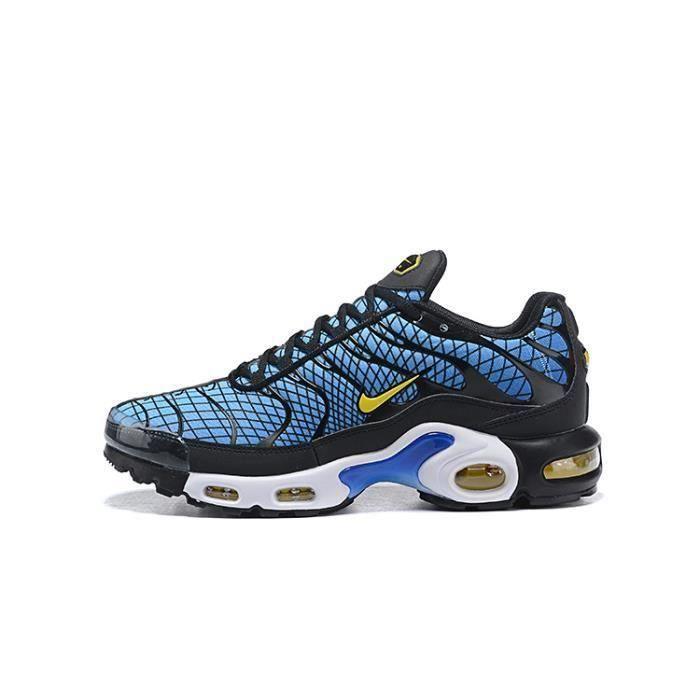 Baskets Nike Air Max TN Plus Chaussures de Course Homme Bleu Jaune ...