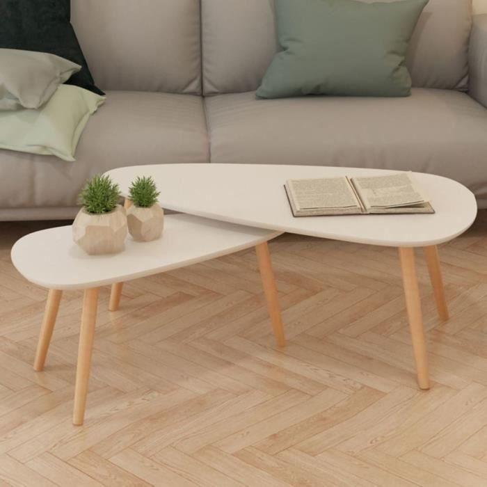 LUNDBY Maison de Poupées Salon Ensemble de meubles moderne canapé et tables basses