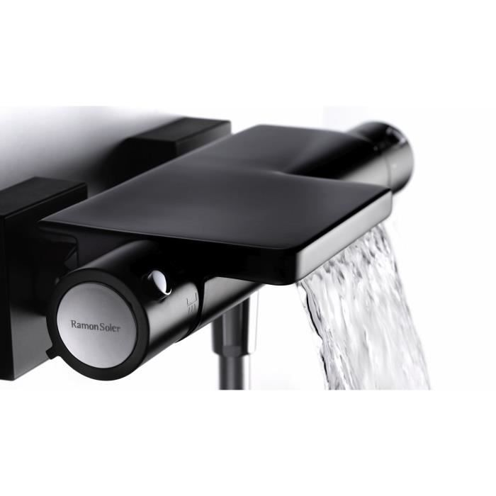 mitigeur thermostatique bain douche noir termo achat vente robinetterie mitigeur. Black Bedroom Furniture Sets. Home Design Ideas