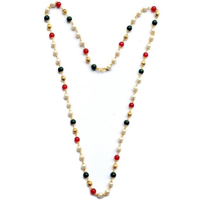 Womens Wedding Collection Money Saving Designer Gold Plated Mala Ruby Pearl Mala, Laxmi Mala, Gol P9XQA