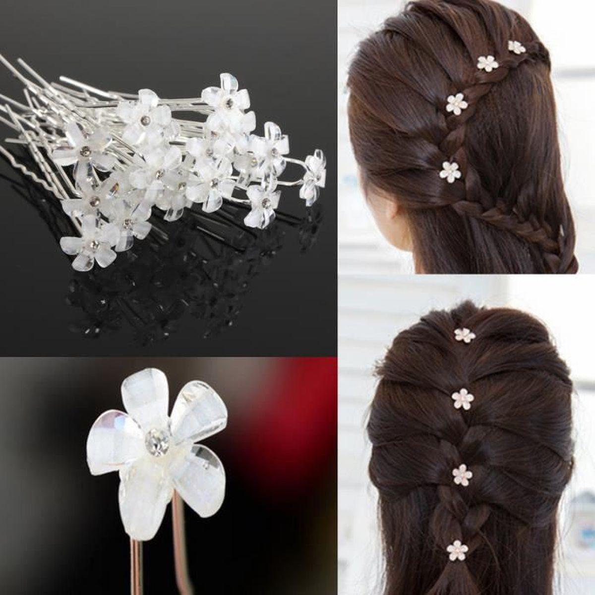 """Mariage Fleur Fille Communion grandes filles 5/"""" Argent /& Blanc Cheveux Bow Clip"""