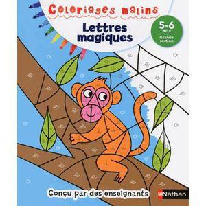 DOCUMENTAIRE ENFANT NATHAN Coloriages Malins - Lettres Magiques Grande
