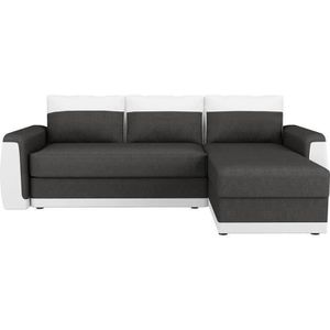CANAPÉ - SOFA - DIVAN JAMES Canapé d'angle convertible 3 places - Simili