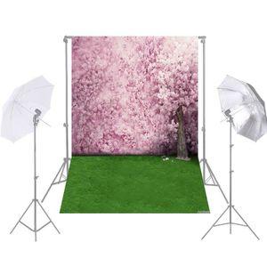 FOND DE STUDIO Andoer 1.5 * 2.1 m / 5 * 7ft Fleurs de Cerisier Sa