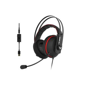 CASQUE AVEC MICROPHONE CABLE Asus Casque TUF H7 rouge