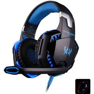CASQUE AVEC MICROPHONE Headset Gaming stéréo Casque avec fil de 2.1m Rédu