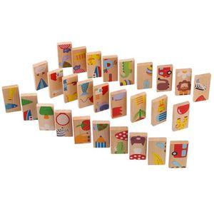 PUZZLE 28pcs - Animal Set Domino Puzzles Puzzles en bois