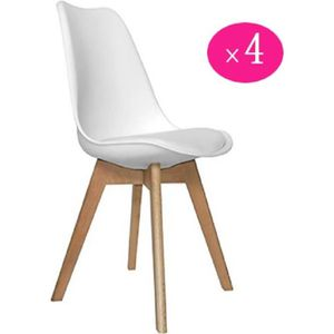 Lot De Scandinaves 4 Chaises Achat uBlanc Similip Conor OXZuPki