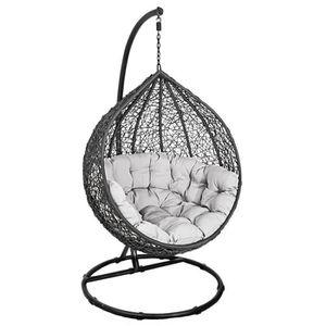 HAMAC Panier suspendu chaise + coussin + chaise suspendu