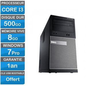 UNITÉ CENTRALE  Dell Optiplex 3010 MT  Intel Core I3 3.3 GHz - HDD
