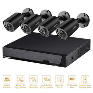 CAMÉRA DE SURVEILLANCE FLOUREON 8CH Système de Surveillance 5 in 1 TVI-AH