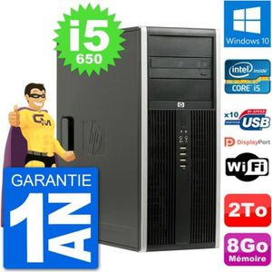 ORDI BUREAU RECONDITIONNÉ PC Tour HP 8100 Elite Intel Core i5-650 RAM 8Go Di