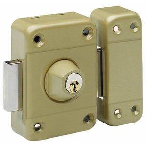 SERRURE - BARILLET Verrou de sécurité à bouton pour porte de 40 mm d