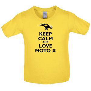 T-SHIRT Dressdown - Keep Calm and Love Moto X - T-Shirt En