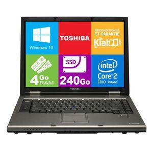 Vente PC Portable ordinateur portable 15 pouces TOSHIBA TECRA A9 core 2 duo,4 go ram 240 go ssd disque dur,windows 10 pas cher