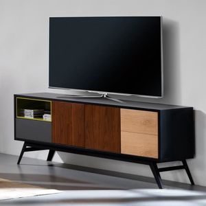 MEUBLE TV Meuble TV 3 portes 1 tiroir - ALESIA n°2 - L 150 x