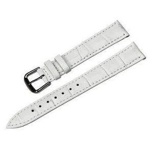 BRACELET DE MONTRE Bracelet Montre Cuir Blanc Boucle Ardillon 20mm