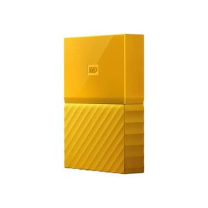 DISQUE DUR EXTERNE WESTERN DIGITAL My Passport - 4To - Jaune