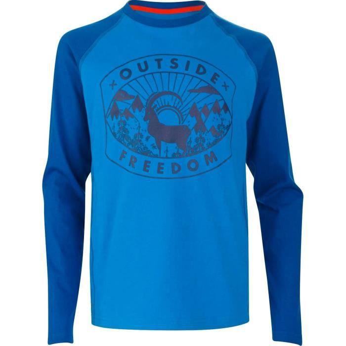 WANABEE T-shirt Elgon - Enfant garçon - Bleu
